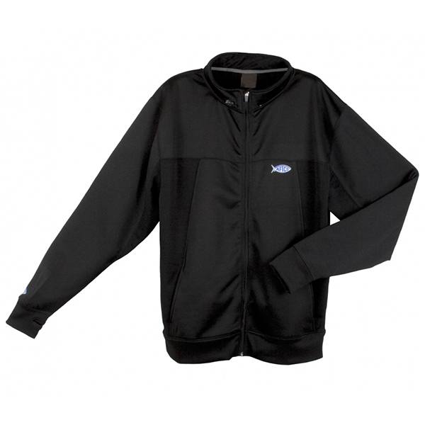 Aftco Men's Technical Zip-Front Fishing Hoodie, Black, XL