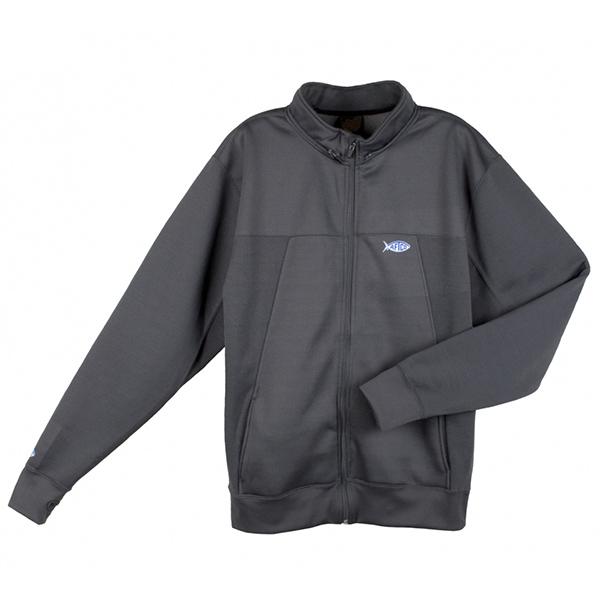 Aftco Men's Technical Zip-Front Fishing Hoodie, Gray, 2XL