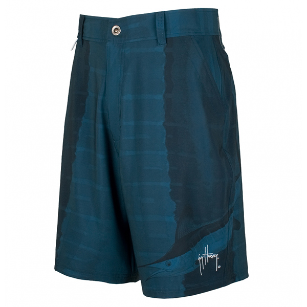 Guy Harvey Men's Marlin Skin Hybrid Walk Shorts, Navy, 34
