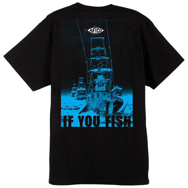 Aftco Men's Long Range Fishing Shirt, Black, M