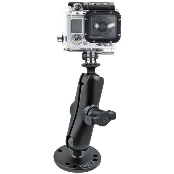 Ram Mounts Gopro Camera Flat Surface Mount West Marine