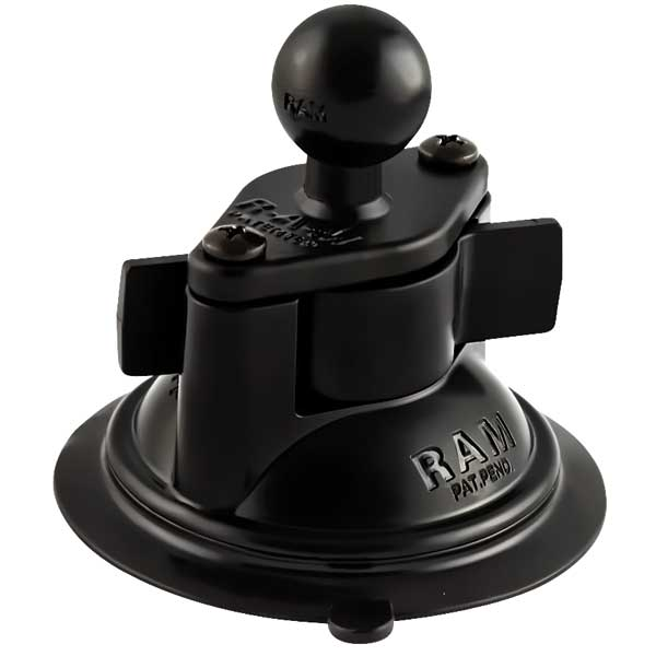 Ram Mounts Suction Cup Base with 1 Ball