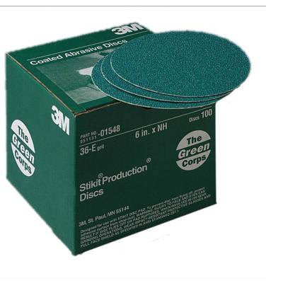 3M Green Corps Prod Disc - 6, 36E-Grit, 100 Pk