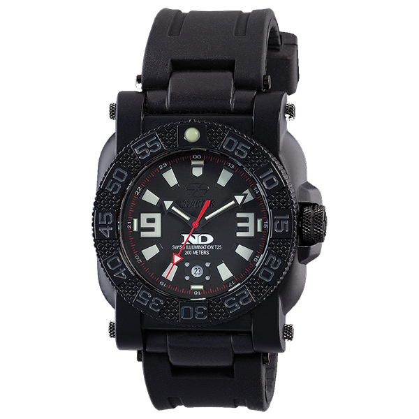 Reactor Gryphon Rubber Strap Bracelet Watch, Black
