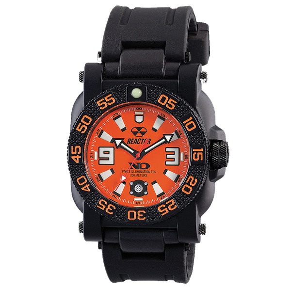 Reactor Gryphon Rubber Strap Bracelet Watch, Orange