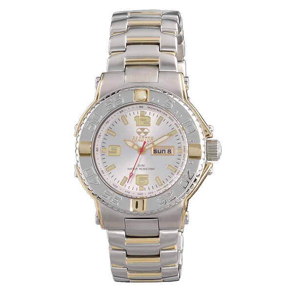 Reactor Women's Critical Mass 2-Tone Bracelet Watch, Gray