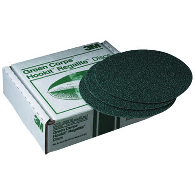3M 8 Green Corps Hookit Regalite Sanding Disc, 60E