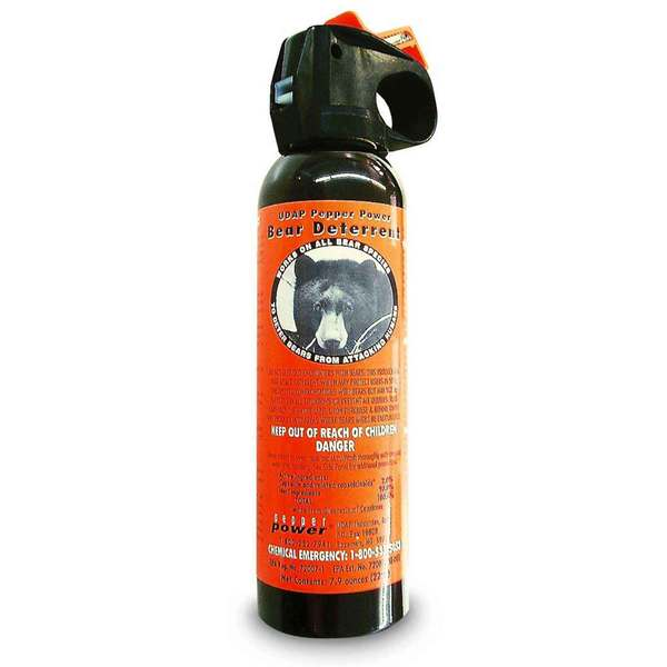 UDAP Safety Orange Bear Spray with Hip Holster