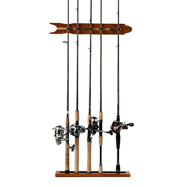 Organized Fishing Modular Wall Rod Rack, Oak