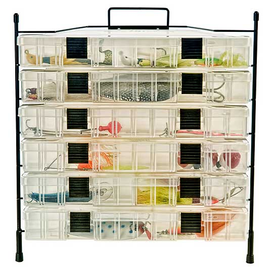 Organized Fishing 6 Box Modular Wire Rack