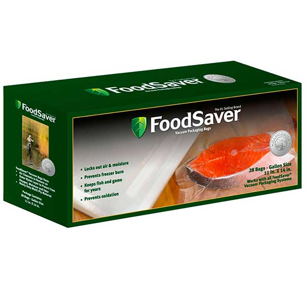 Food Saver GameSaver Gallon Size Bags, 11 in. x 14 in., 28 Pack