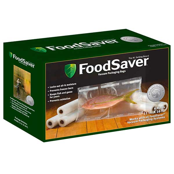 Food Saver GameSaver 6-Pack, 11 in. x 16 ft. Long Rolled Bags