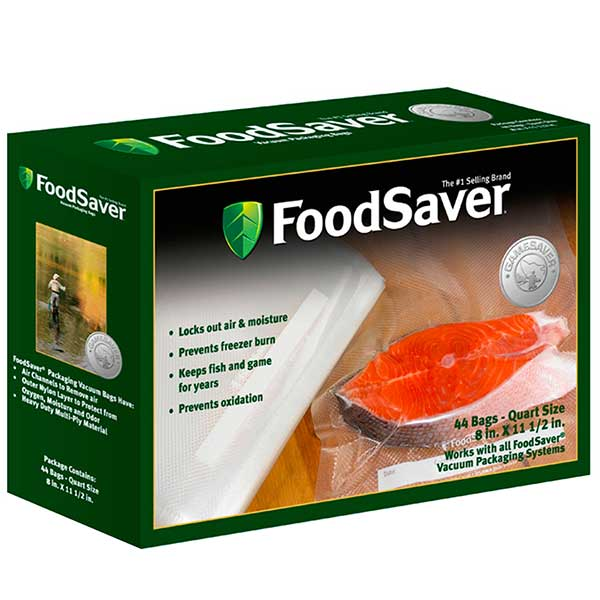 Food Saver GameSaver Quart Size Bags, 8 in. x 11 in., 44 Pack