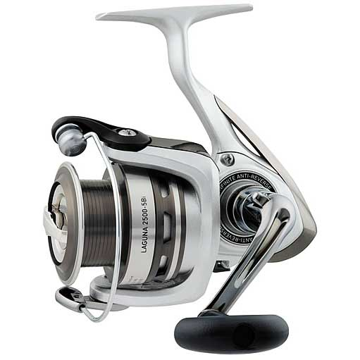 click for Full Info on this Daiwa Laguna  5bi 3000 Spinning Reel  M/ml  5+1bb  5.3:1 Gear Ratio  8.8 Max Drag  8/240  10/200  12/170 Yd/tst  11.5 Oz.