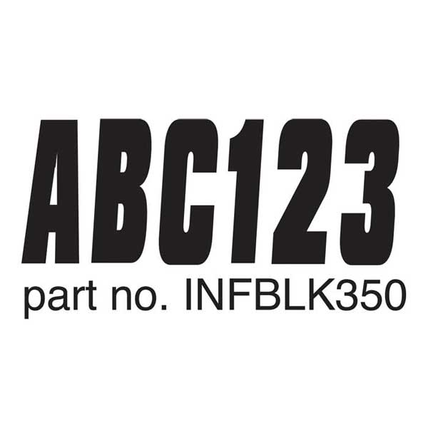 Hardline Products Lettering Kit for Inflatable Boats Sale $21.99 SKU: 14374599 ID# INFBLK350 UPC# 632194700130 :