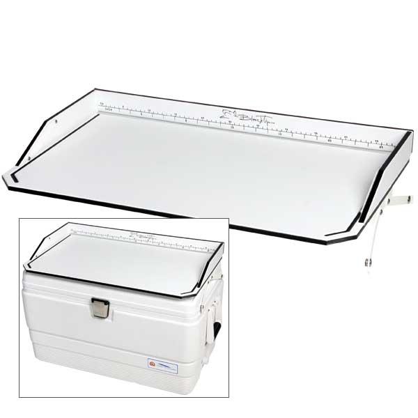 Blacktip Cooler Top Filet Table, 72 Qt., 28L x 16 1/4W x 3 1/2H Sale $59.77 SKU: 14390678 ID# WBT-072 UPC# 25282152452 :