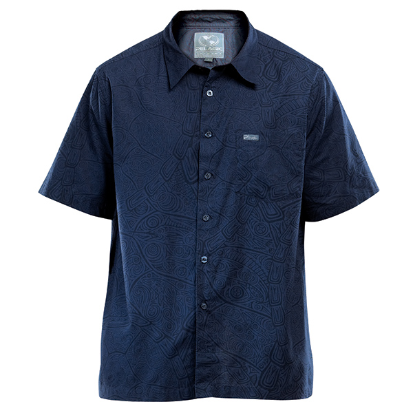 Men's Tortuga Collared Shirt, Navy, M