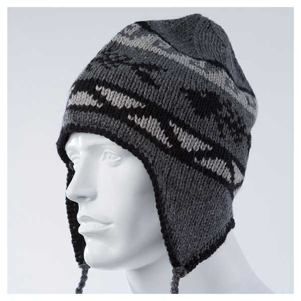 Gage Technical Gear Wool Blend Flap Cap, Gray