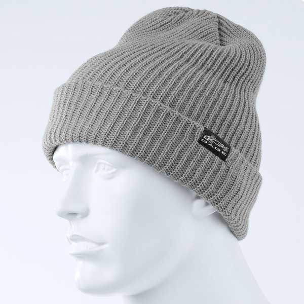 Gage Knitted Beanie, Grey