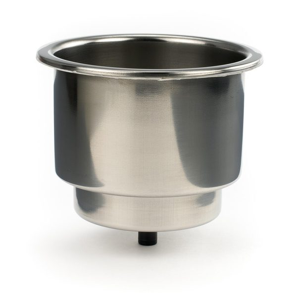 Whitecap Stainless Steel Flush Cupholder with Drain