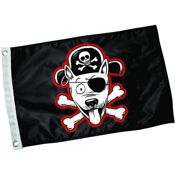 Paws Aboard Pirate Pet Flag