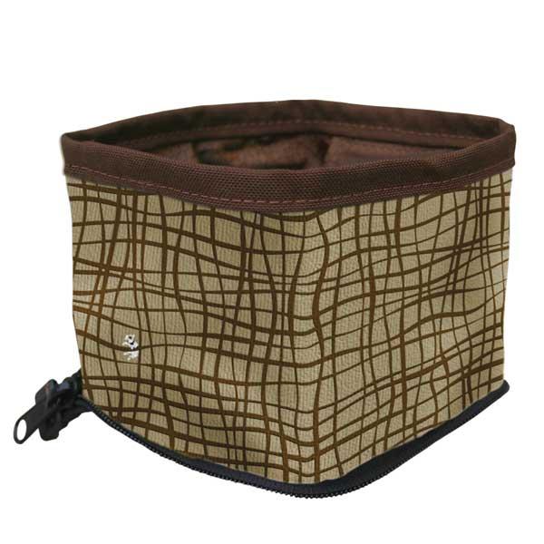 Kurgo Zippy Bowl Portable Pet Feeder Clutch, Brown/Tan Sale $6.88 SKU: 14473961 ID# 1221 UPC# 813146012215 :