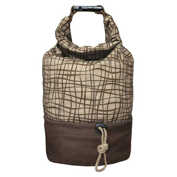 Kurgo Kibble Carrier Portable Pet Food Travel Tote Plus Bowl, Brown/Tan