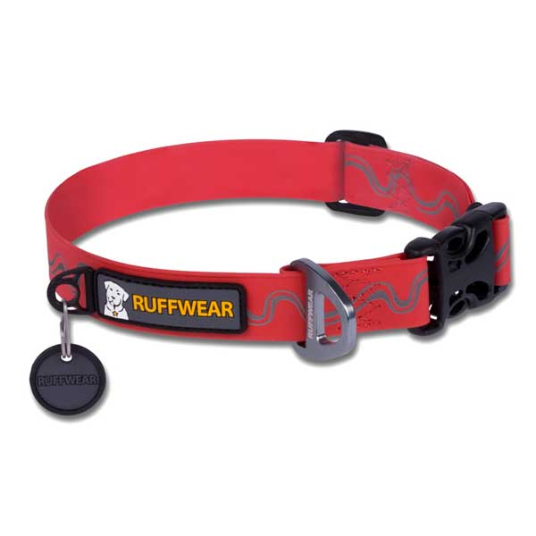 Ruffwear Headwater Dog Collar, Medium, Red Sale $29.95 SKU: 14474100 ID# 25401-615M UPC# 748960643027 :