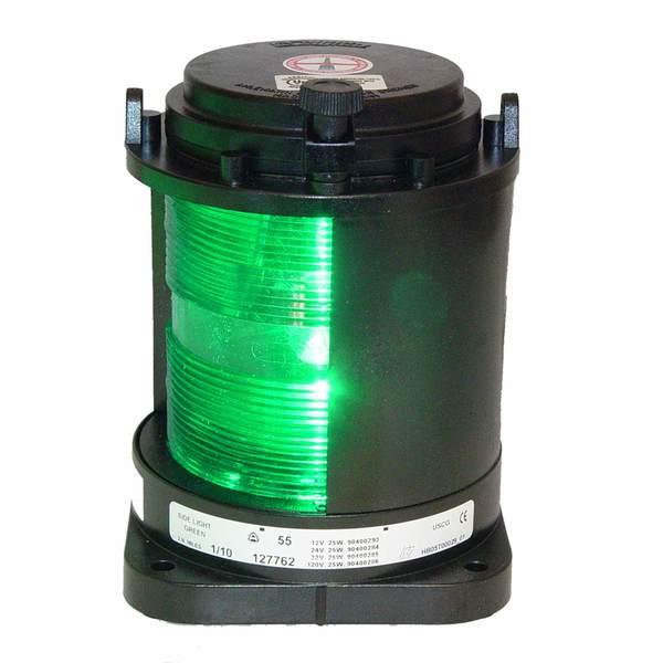 aqua signal starboard navigation light green with black housing. Black Bedroom Furniture Sets. Home Design Ideas