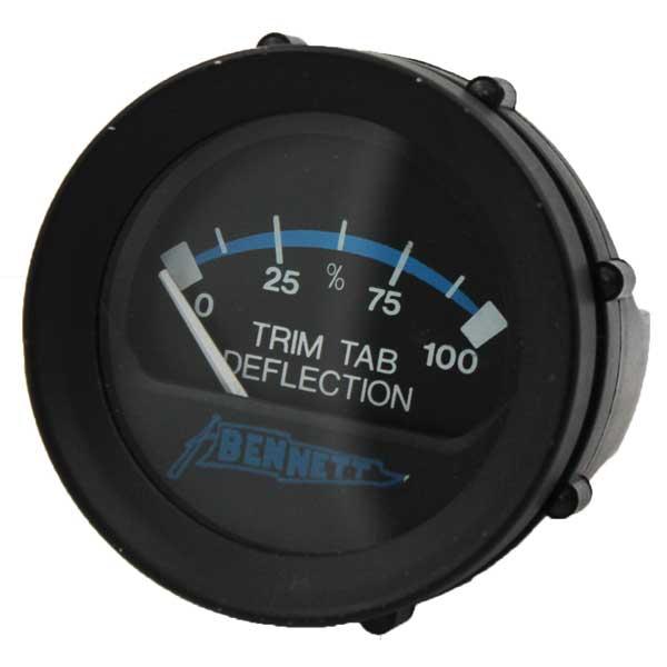 Bennett Marine Standard Replacement Tab Gauge Display Only 12V