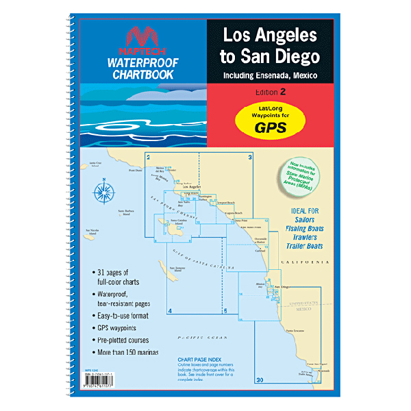 Maptech Waterproof Chartbook: Los Angeles to San Diego including Ensenada, Mexico, 2nd Edition