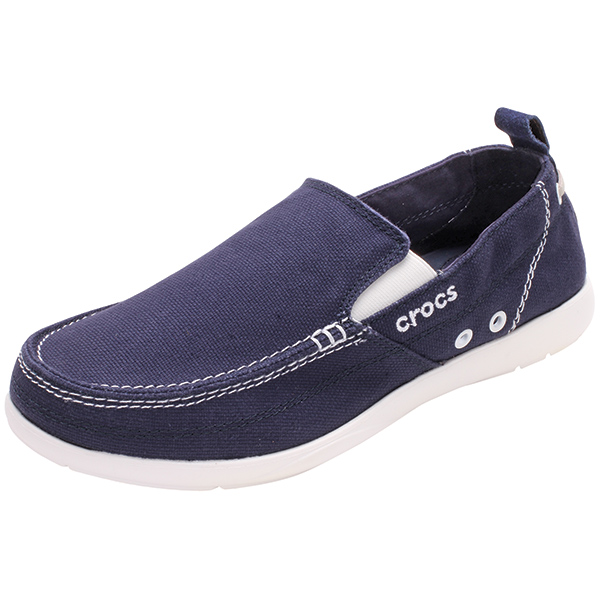 Crocs Men's Walu Slip-On Loafers, Navy/white, 13 Sale $49.88 SKU: 14638449 ID# 11270-462-740 UPC# 883503616257 :