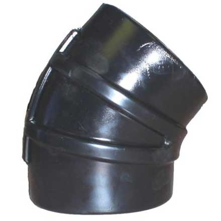 Shields Rubber 10 EPDM 45 Degree Elbow with clamps