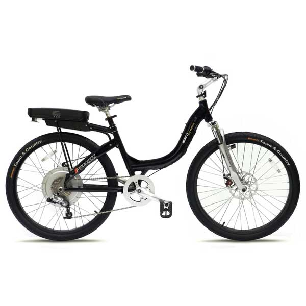 Prodeco Technologies Stride 500 Black Electric Bike 8 Speed, 36V, 500W