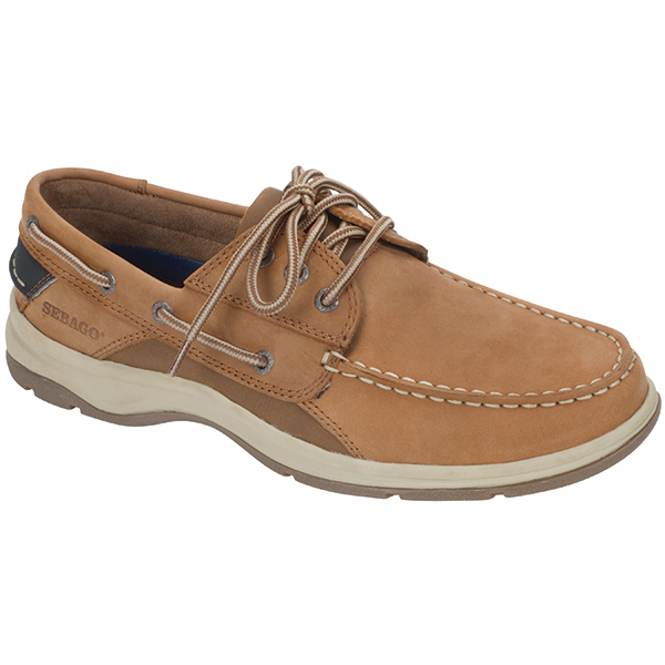 Men's Blue Fin Boat Shoes, Dark Tan, 10