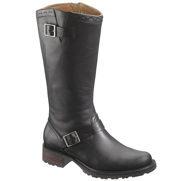 Saranac Buckle High Boots, Black, 6