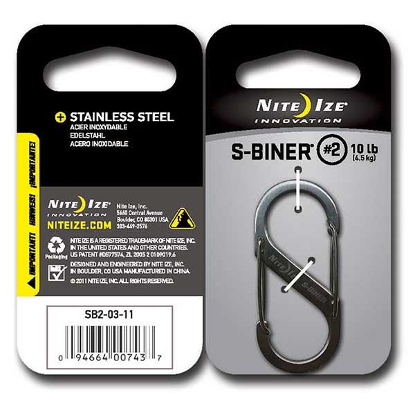 Nite Ize S-Biner #2, Stainless Steel