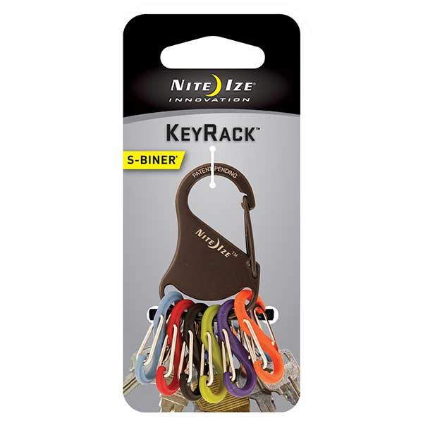 Nite Ize S-Biner KeyRack, Stainless Steel Black