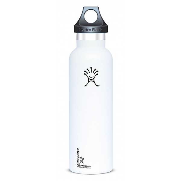 Hydro Flask Insulated Stainless Steel Water Bottle, White, 21oz.