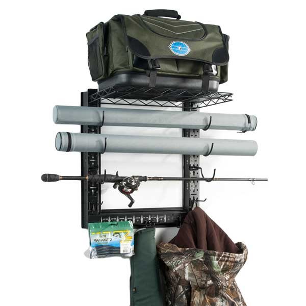 Organized Fishing Game Changer Wall Mount Rod Rack