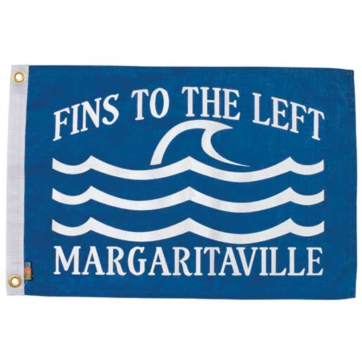 Margaritaville Apparel Fins to the Left Novelty Flag