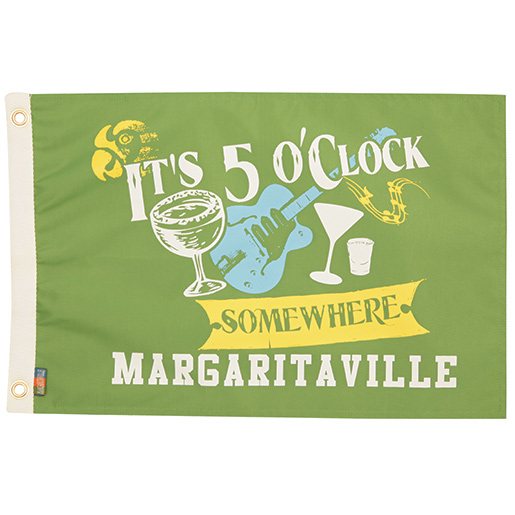 Margaritaville Apparel Five O'Clock Somewhere Novelty Flag