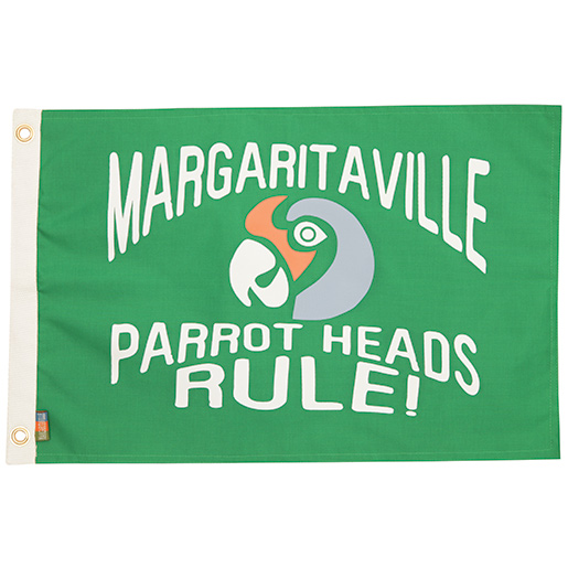 Margaritaville Apparel Green Parrot Head Novelty Flag