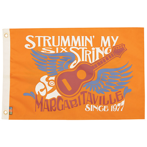 Margaritaville Apparel Strum My Six String Novelty Flag