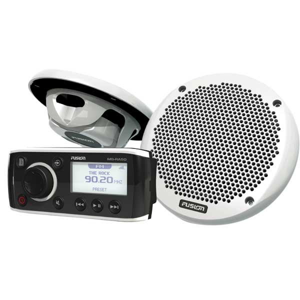 Fusion MS-RA50 Stereo/MS-EL602 Speaker Package