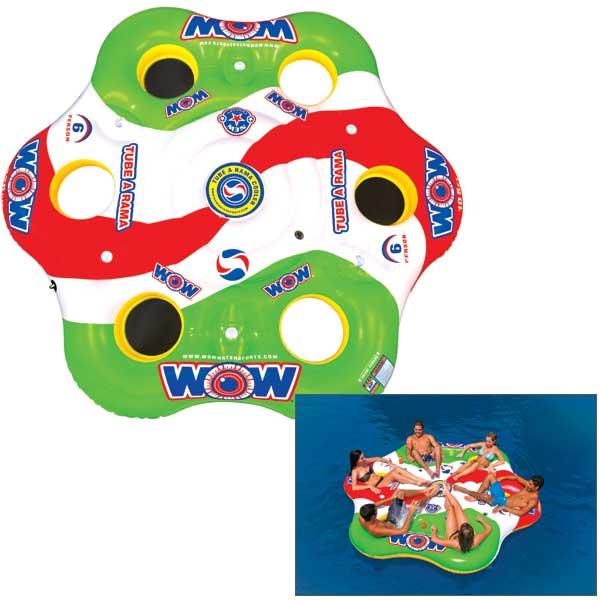 Wow Sports Tube A Rama 6 Person Towable Tube Sale $269.99 SKU: 14807242 ID# 13-2050 UPC# 4897034341263 :