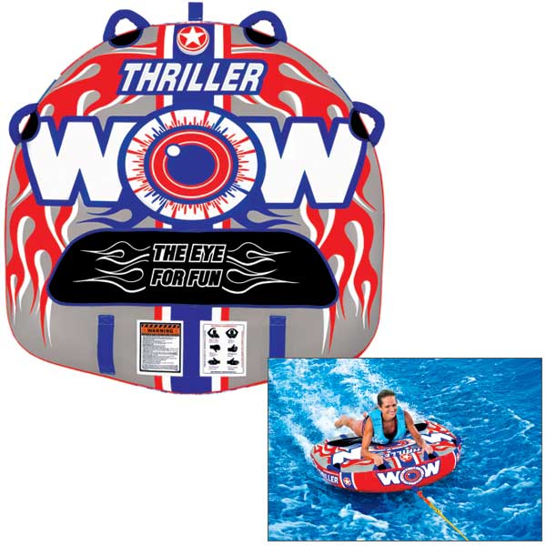 Wow Sports Thriller Towable Tube Sale $99.99 SKU: 14807283 ID# 11-1060 UPC# 4897034340075 :