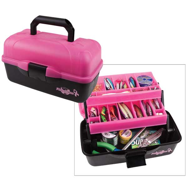 Flambeau Outdoors 2-Tray Tackle Box, Frost Pink