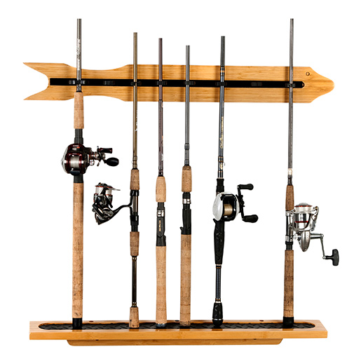 Organized Fishing Modular Bamboo Wall-Mounted Rod Rack