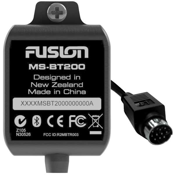 Fusion MS-BT200 Marine Bluetooth Module with Data Display Sale $74.99 SKU: 14819825 ID# MS-BT200 UPC# 9419523302323 :